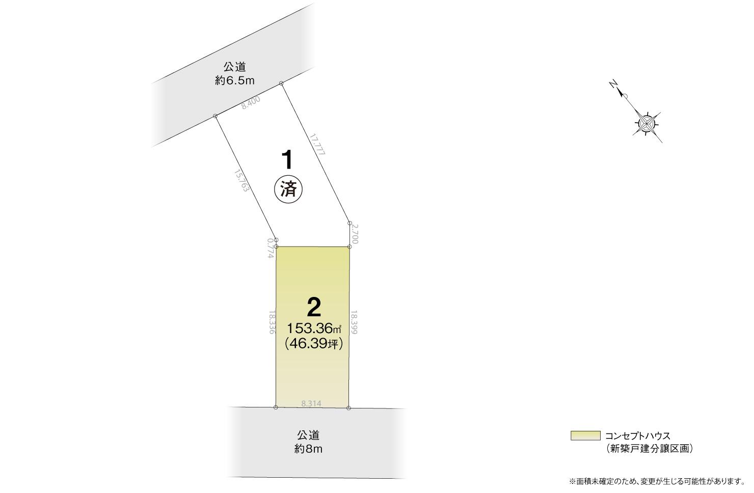 4_区画図_天白区西入町2