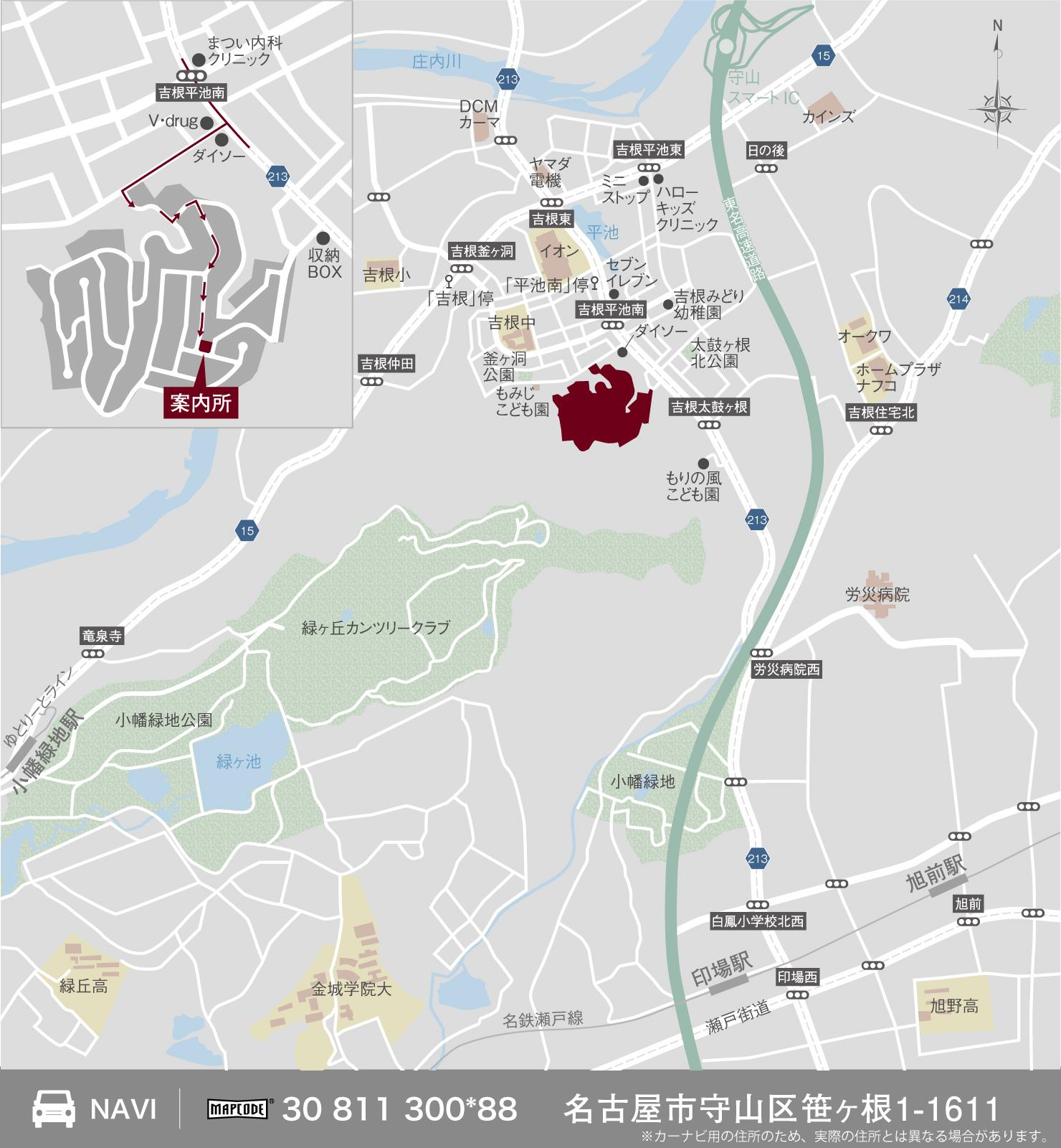 クリザンテームヒルズ緑の丘_地図