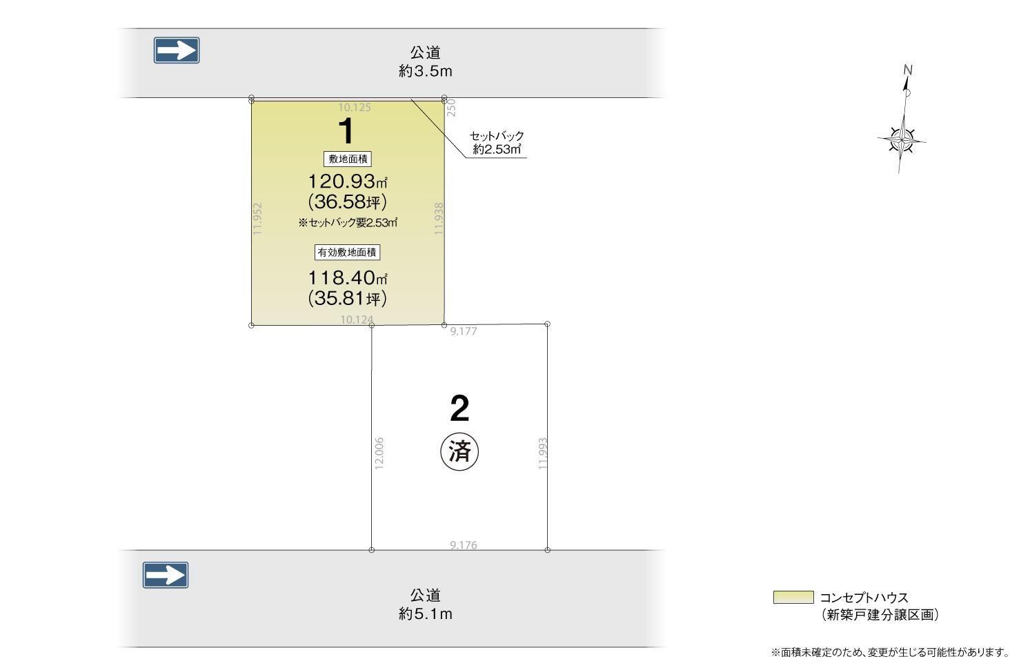 4_区画図_北区安井