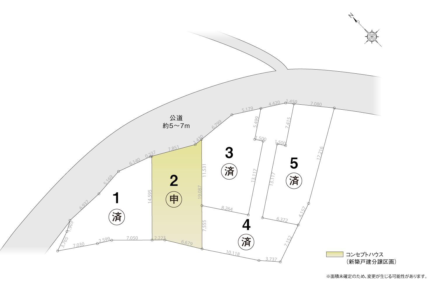 4_区画図_知多市新知門田