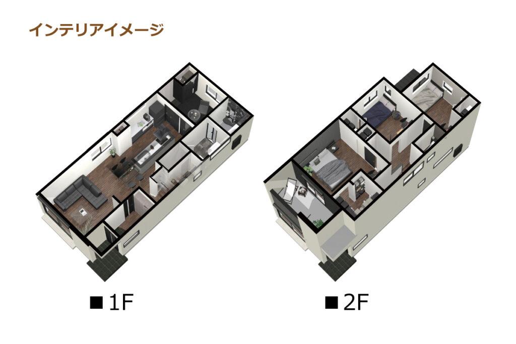 5_間取図_plan2_中村区長筬町_インテリアイメージのみ