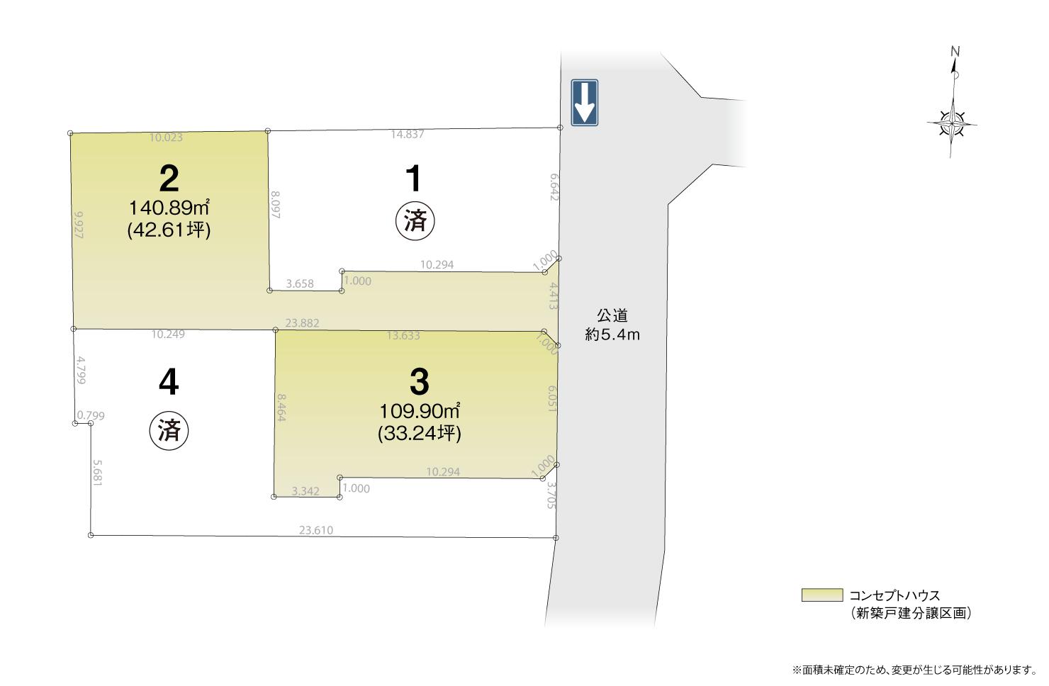 4_区画図_中村区日比津町2