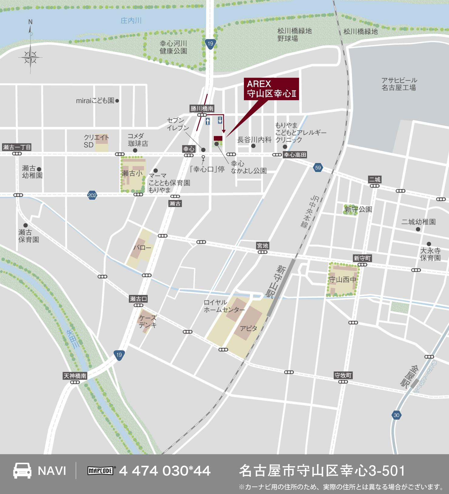 3_地図_守山区幸心2