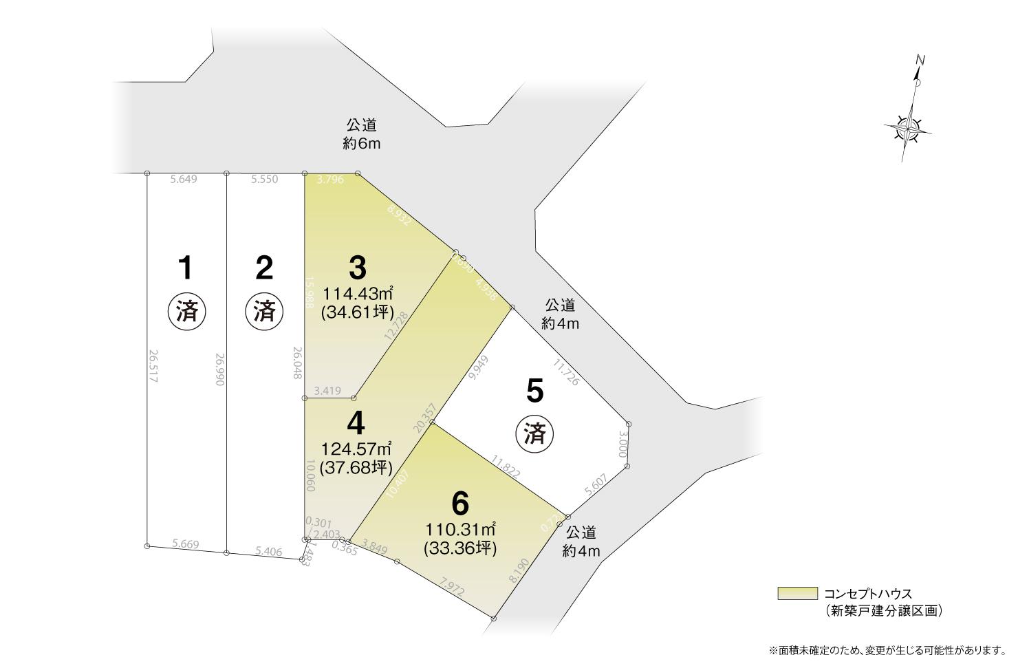 4_区画図_名東区牧の里