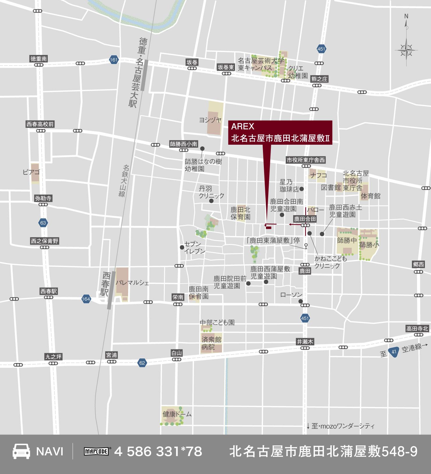 3_地図_北名古屋市鹿田北蒲屋敷2
