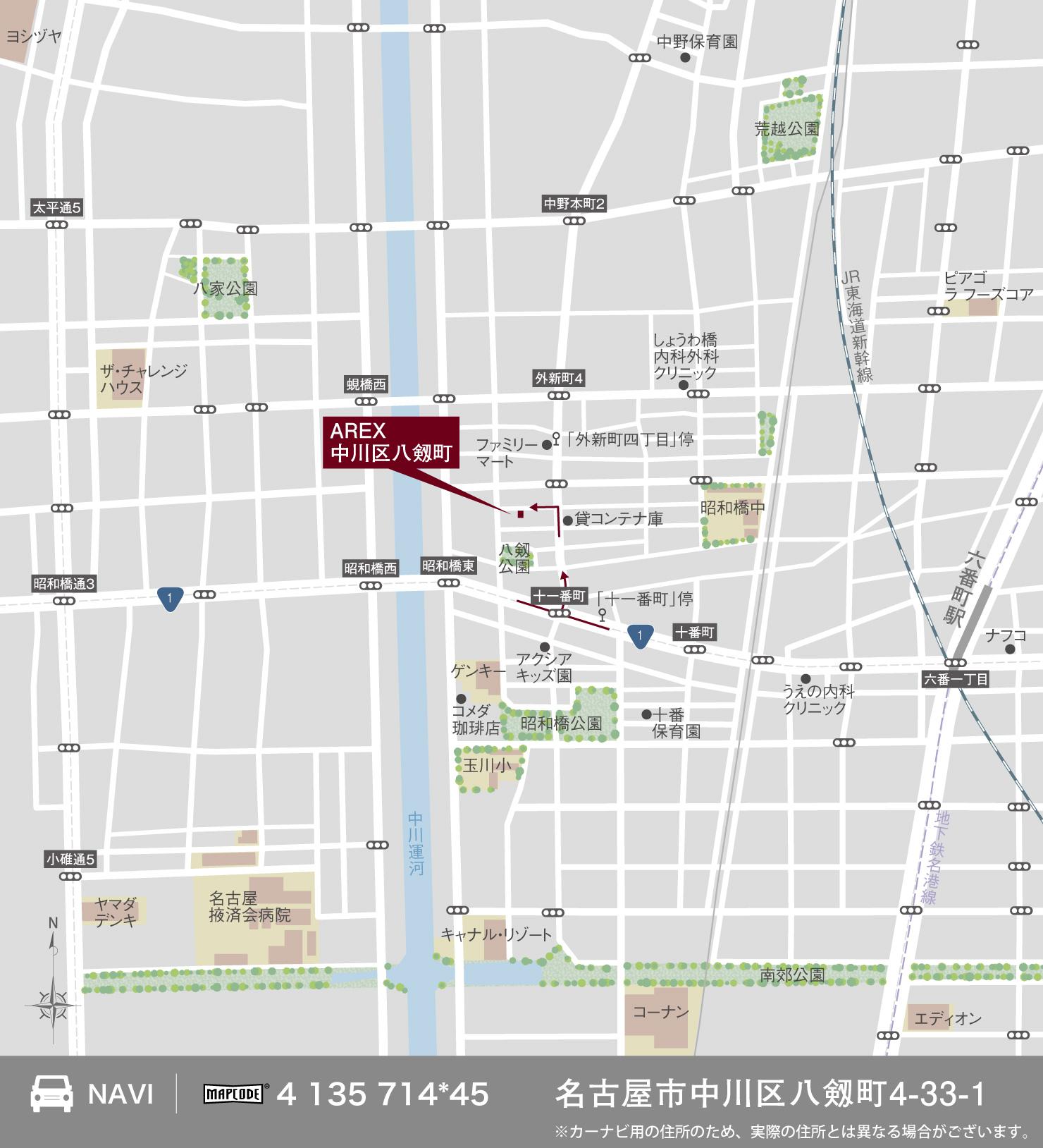 3_地図_中川区八剱町